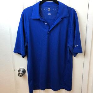 Nike Golf Shirt.Sapphire Blue Size M